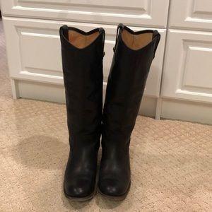 Frye Melissa Button Boots Black Size 8